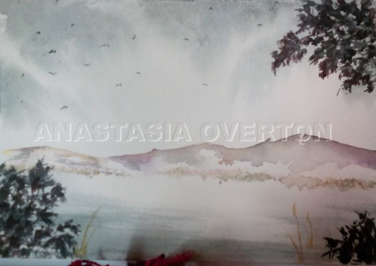 """Blueridge"" watercolor by Anastasia Overton"